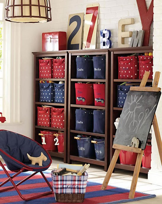 Storage and organization ideas for kids rooms design dazzle for Storage solutions for toys small rooms