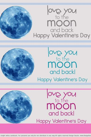 Love You To The Moon And Back – Valentine Free Printable
