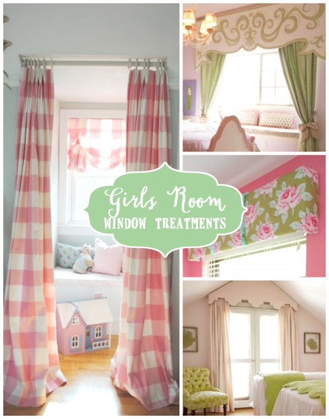 Creative girls room window treatments design dazzle - Creative ideas for girls room ...