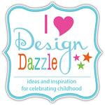 I Heart Design Dazzle button