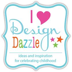 I Heart Design Dazzle button 250x250