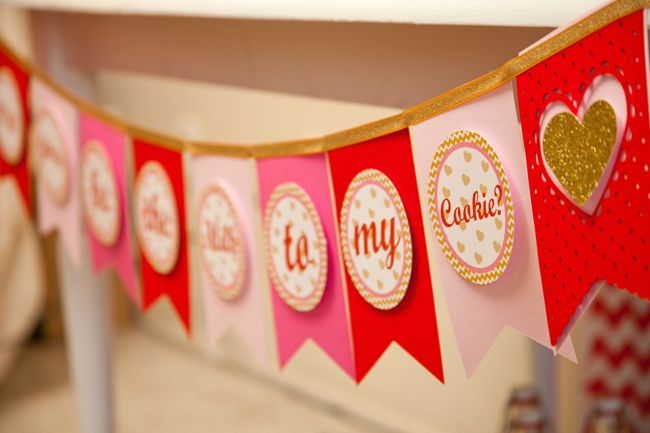 Valentine Party: Will You Be The Milk To My Cookies? kids valentine party banner