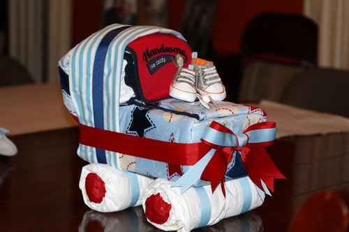 How To Make Baby Shower Tricycle Diaper Cake
