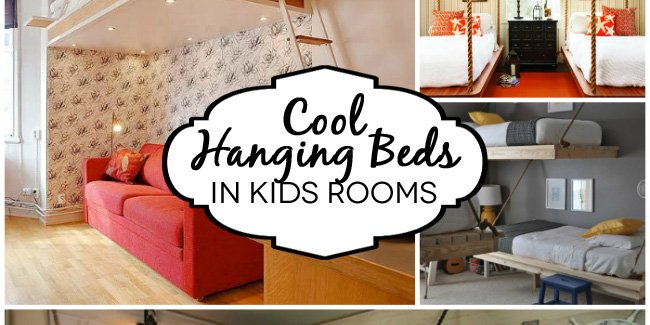 Hanging beds in kids rooms design dazzle for Suspended beds for kids