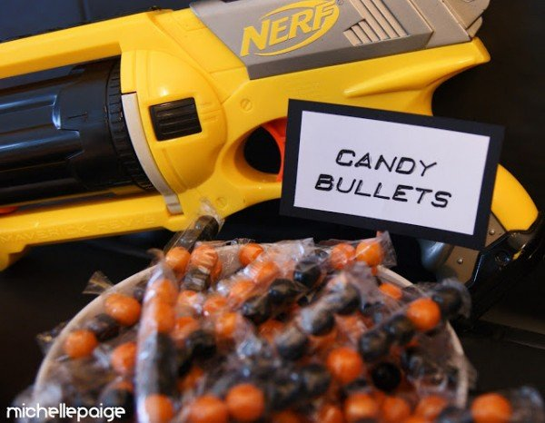 Nerf party candy bullets