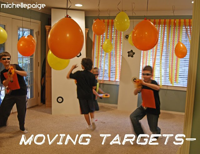 Nerf party moving targets