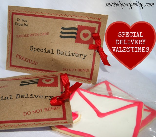 Special Delivery Love Letter Valentine with FREE printable
