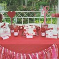 Valentine Party dessert table