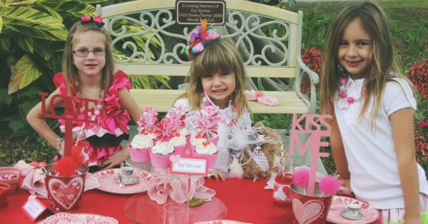 Candy Kisses Valentine party guests