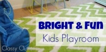 Bright and fun playroom for kids