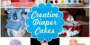 Fun diaper cake ideas for baby showers