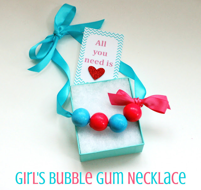 girls bubble gum necklace
