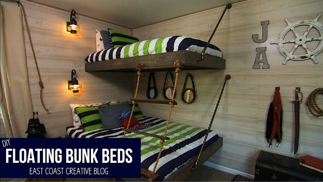 Good These beds might not be technically hanging but they are suspended by the wall and they look pretty awesome