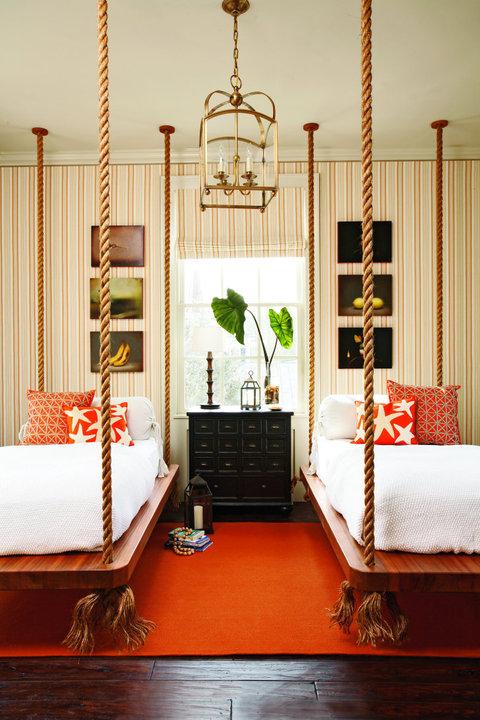 hanging beds in kids rooms design dazzle