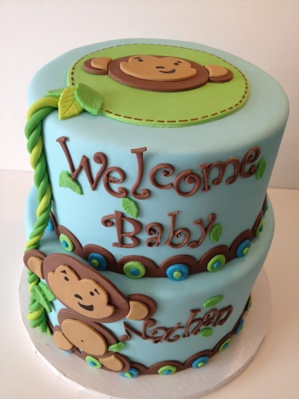 Monkey For Baby Shower Part - 23: Recently Iu0027ve Seen A Flurry Of Adorable Monkey Themed Baby Showers And I  Just Had To Share Some Of Them With You. Here Is A Collection Of Monkey  Theme Cakes ...