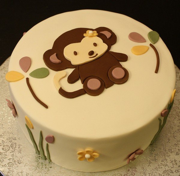 adorable monkey cake