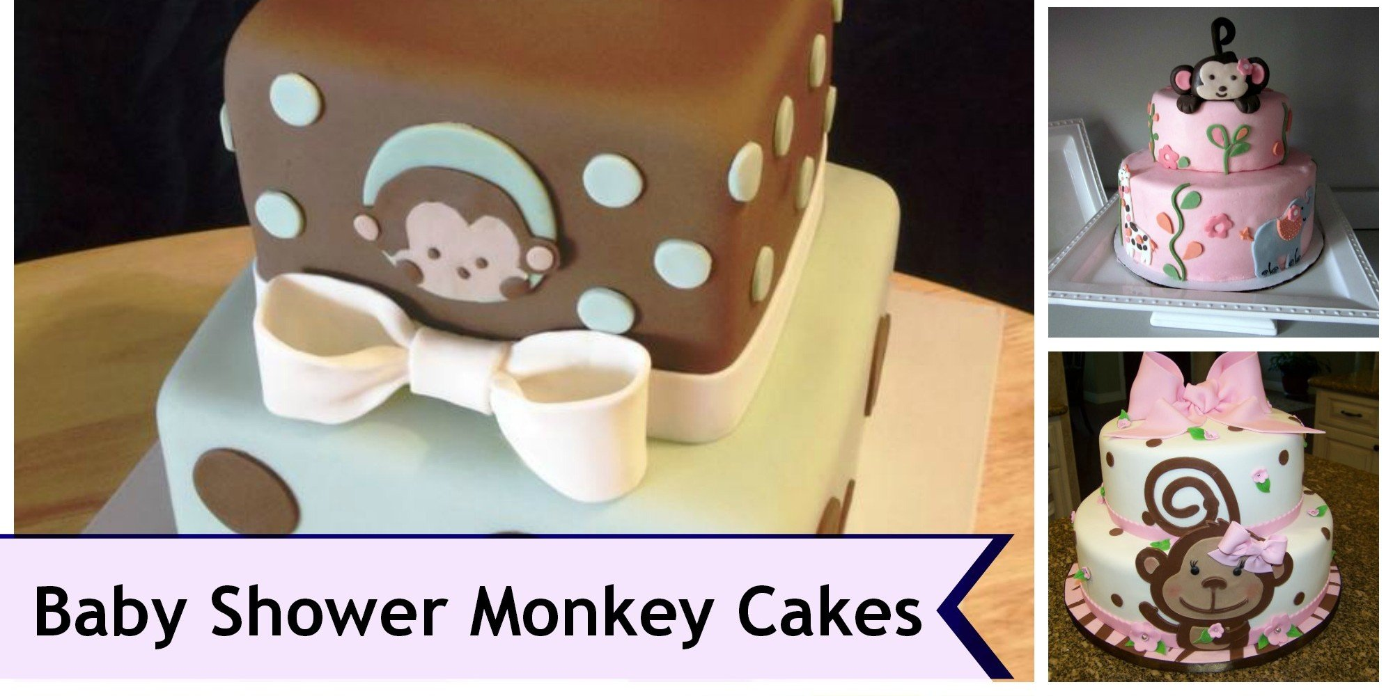 Monkey Theme Cakes for Baby Showers Design Dazzle