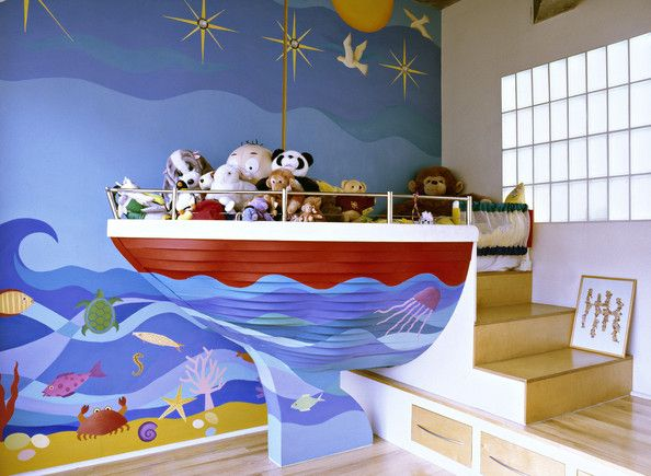 25 amazing boat rooms for kids design dazzle for Childrens themed bedroom ideas