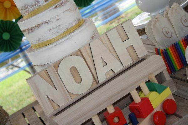 noah's ark 1st birthday letters