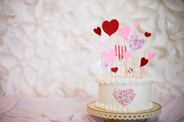 Valentine easy cake topper
