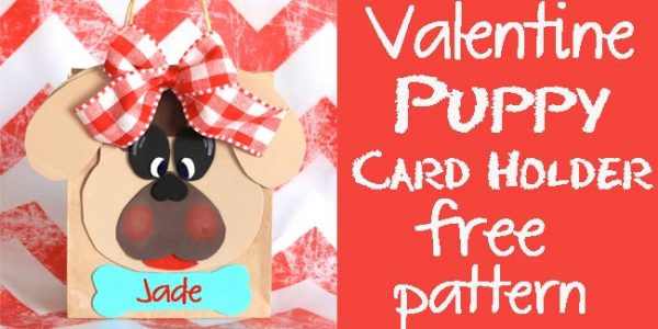 Valentine Puppy Card Holder - free pattern - Design Dazzle