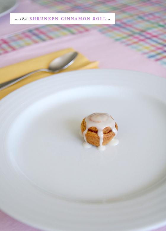 Mini cinnamon roll for April Fool's Day