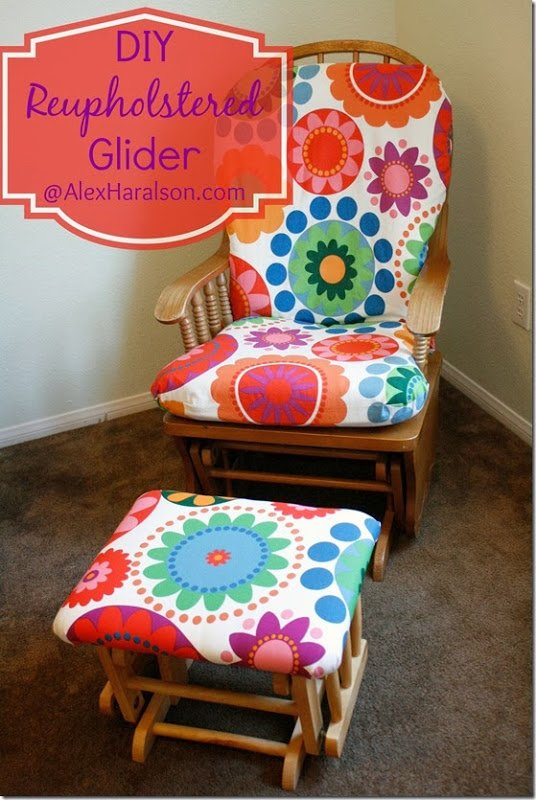 Do It Yourself Recover Glider Rocker