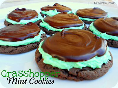 Grasshopper Mint cookies - St. Patty's day treat