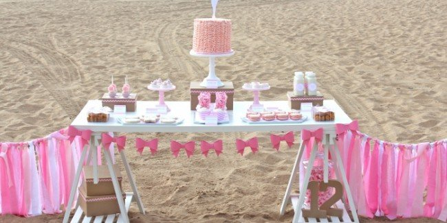 pink beach party