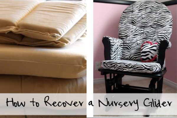 Before and After - How to recover a nursery glider - Design Dazzle