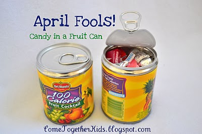 April Fool's Day - candy in a can