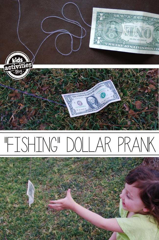 April Fool's Day prank - moving dollar