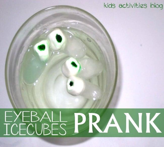 April Fool's Day ideas - eyeball icecubes