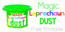 Magic Leprechaun Dust - free printable - Design Dazzle