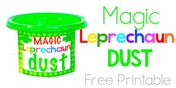 Magic Leprechaun Dust - free printable - Design Dazzle