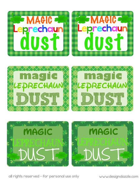 Magic Leprechaun Dust - Free Printable
