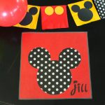 Mickey or Minnie Mouse Placemat Idea