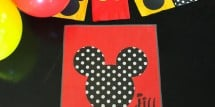 Mickey and Minnie placemat and activity mat idea - Design Dazzle