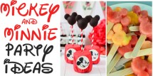 Mickey and Minnie Mouse Party Ideas - Design Dazzle