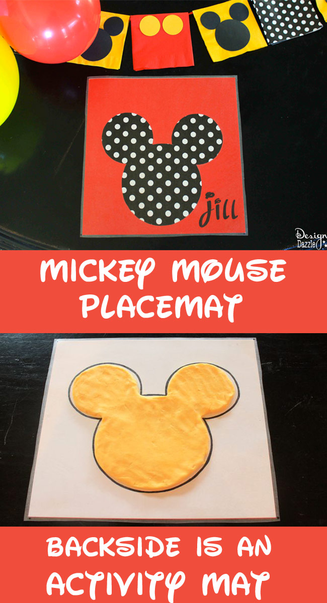 Mickey Mouse Party Activity Placemats Design Dazzle