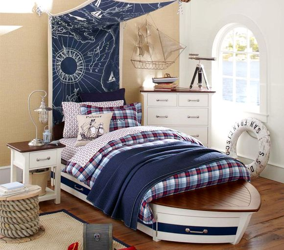 25 fabulous nautical rooms for kids design dazzle for Bedroom ideas nautical
