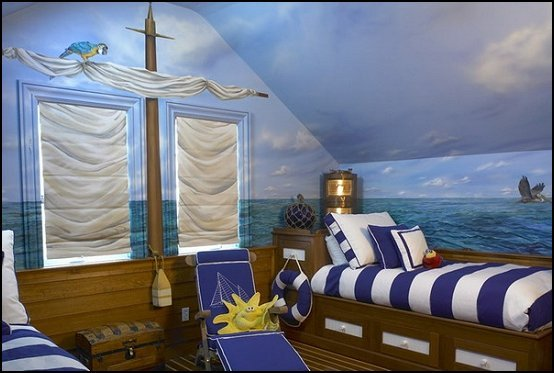 Nautical Ship Theme Bedrooms