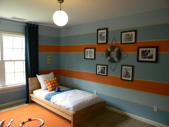 gallery for blue kids room