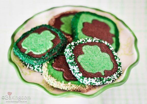 St. Patrick's Day treat - shamrock blarney cookies