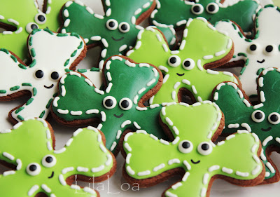 Cute Shamrock Cookies