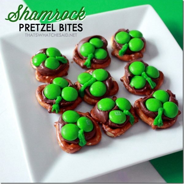 Shamrock Pretzel Bites for St. Patty's Day