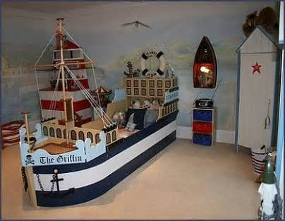 Ship freighter custom bed in Nautical theme bedroom   Design Dazzle. 25 Amazing Boat Rooms For Kids   Design Dazzle