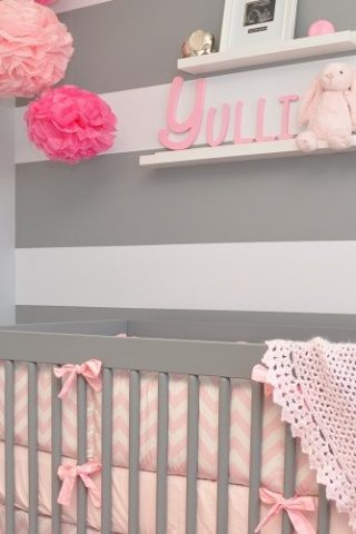 Pink and Grey Modern Nursery