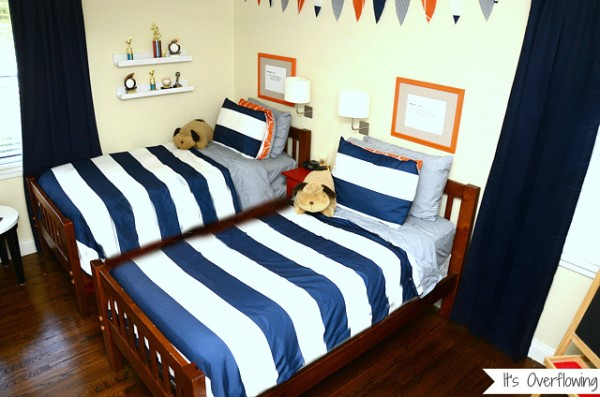 Navy And Orange Boys Budget Room Design Dazzle