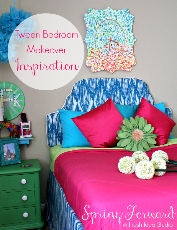 Tween bedroom makeover ideas design dazzle - Spring bedding makeover ideas ...